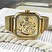 Часы наручные мужские Forsining 1148 All Gold, фото 7