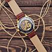 Наручний годинник Forsining 8099 Brown-Gold-White чоловіча механіка, фото 2
