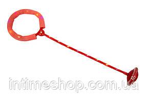 Светящаяся скакалка, нейроскакалка красная, скакалка на одну ногу с доставкой по Украине (TI)