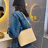 Красива жіноча сумка - Бежева, фото 3