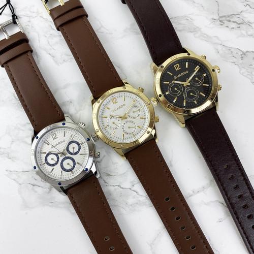Чоловічі наручні годинники Guardo 011168-3 Dark Brown-Gold