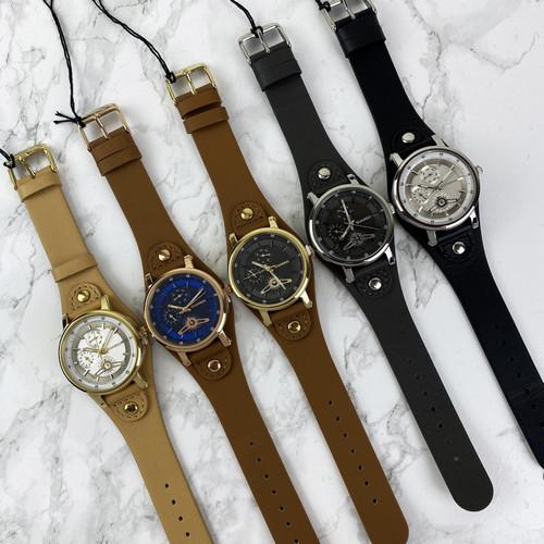 Чоловічі кварцові годинники Guardo 011265-3 Brown-Gold-Black