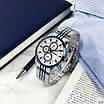 Сріблясті чоловічі наручні годинники Guardo 011653-2 Silver-Blue-White, фото 2