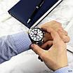 Сріблясті чоловічі наручні годинники Guardo 011653-2 Silver-Blue-White, фото 3