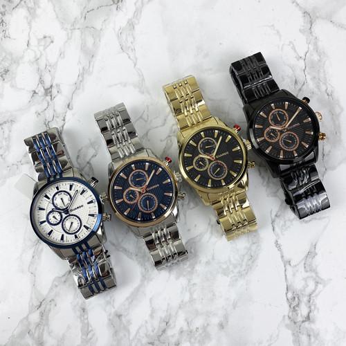 Оригінальні чоловічі годинники Guardo 011653-4 Gold-Brown
