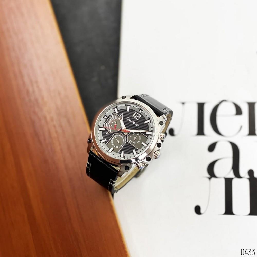 Чоловічі годинники наручні Guardo 011998-1 Black-Silver-Gray