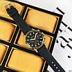 Чоловічі чорні годинник Guardo 012287-4 Black-Gold, фото 2