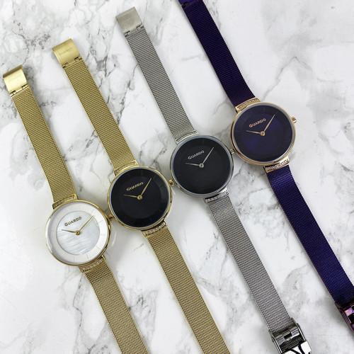 Акуратні наручний жіночий годинник Guardo 012439-4 Gold-White