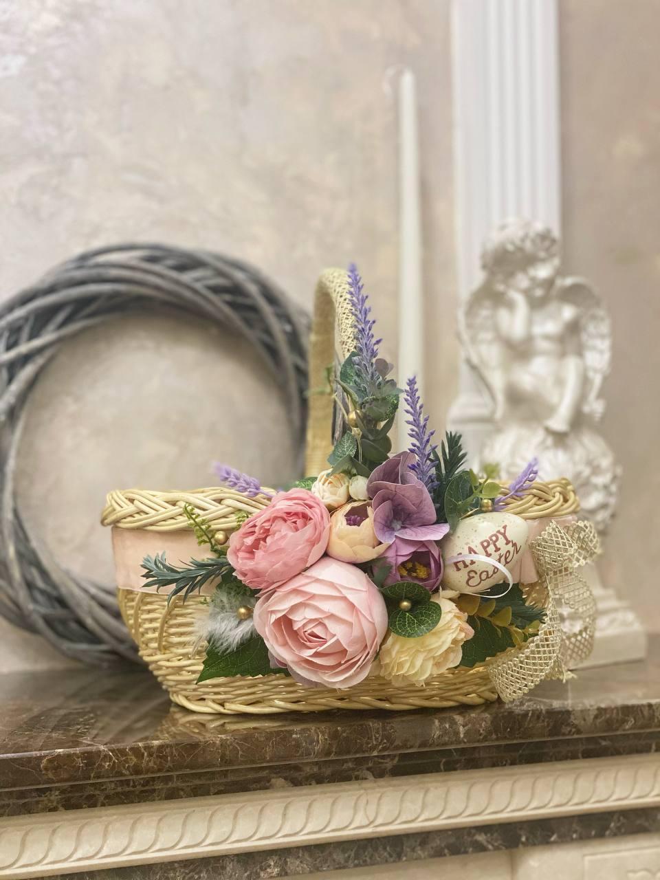 Пасхальний кошик «Бархатний фіолетовий»