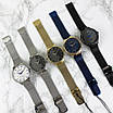 Чоловічі наручні годинники срібні Guardo 012473-(2)-2 Silver-White-Blue, фото 5