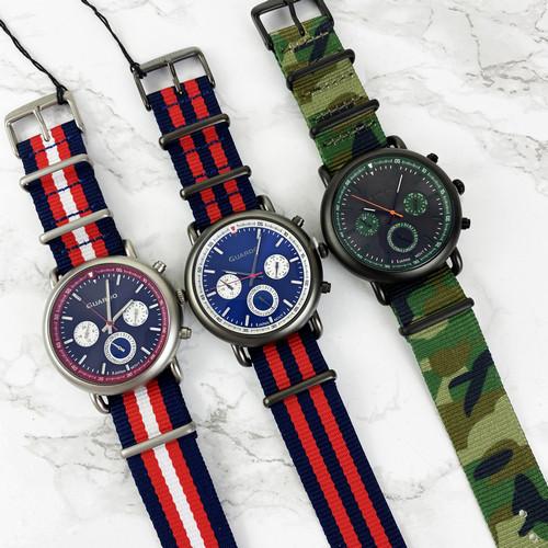Часы наручные мужские Guardo 11146-4 Blue-Red-Gray