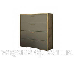 Комод Сокме Франческа 4Ш 88,7×95,8×40,2 дуб вотан/латте