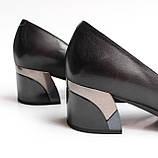 Жіночі шкіряні чорні туфлі, фото 2