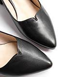 Жіночі шкіряні чорні туфлі, фото 6