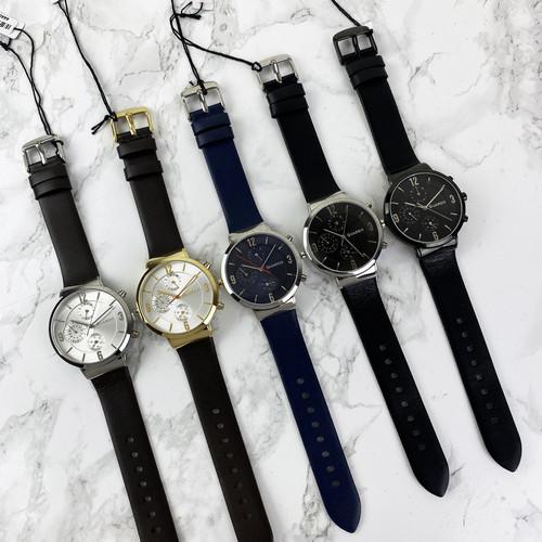 Красиві чоловічі наручні годинники Guardo B01312-2 Dark Brown-Silver-White