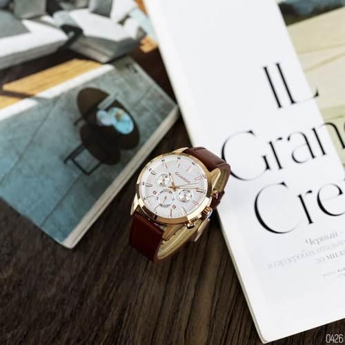 Часы наручные мужские кварцевые Guardo B01338-5 Brown-Cuprum-White