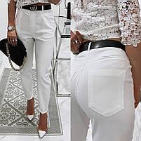 Жіночі модні джинси з високою посадкою в кольорах (Норма), фото 2