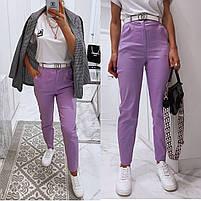 Жіночі модні джинси з високою посадкою в кольорах (Норма), фото 3