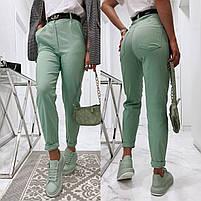 Жіночі модні джинси з високою посадкою в кольорах (Норма), фото 4