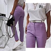 Жіночі модні джинси з високою посадкою в кольорах (Норма), фото 7