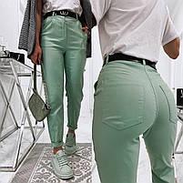 Жіночі модні джинси з високою посадкою в кольорах (Норма), фото 10