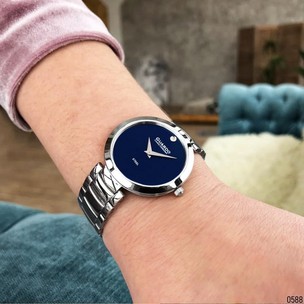 Часы наручные женские Guardo S02407-3 Silver-Blue