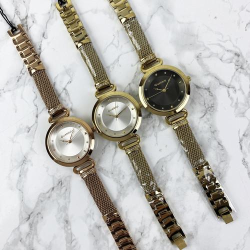 Красиві жіночі наручні годинники Guardo T01059-5 Cuprum-White