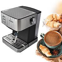 Кофемашина для дома с капучинатором аппарат для приготовления кофе и капучино кофеварка Сrownberg