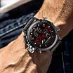 Часы наручные мужские Megalith 8051M Black-Dark Gray-Red, фото 7