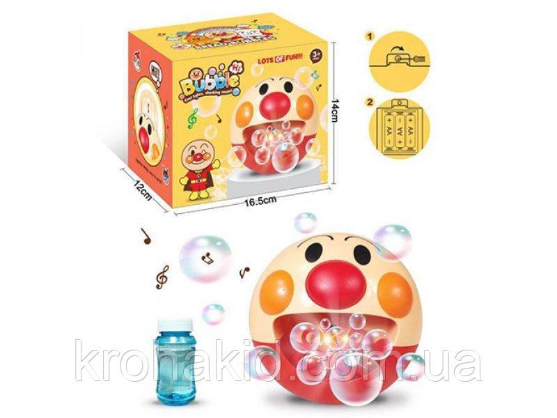 Машина для мыльных пузырей  - Генератор мыльных пузырей Клоун со звуком и светом