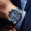 Часы наручные мужские Megalith 8087M Silver-Blue наручные, фото 2