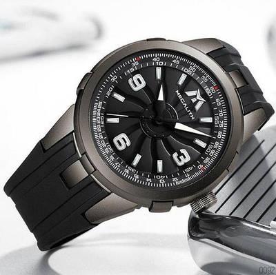 Интересные мужские наручные часы Megalith 8201M Black-Gray