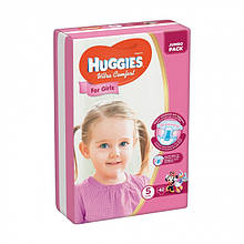 Підгузки Huggies Ultra Comfort для дівчаток, розмір 5, (12-22 кг), 42 шт
