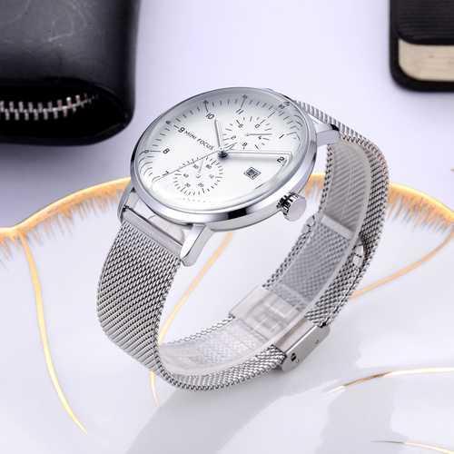 Часы наручные мужские Mini Focus MF0052G.01 Silver-White серебреные