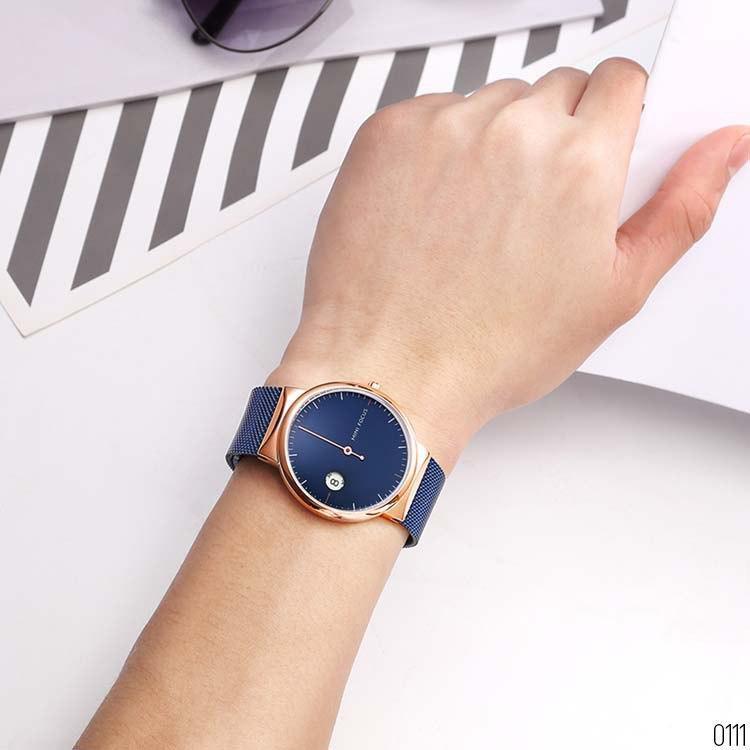 Чоловічі кварцові годинники Mini Focus MF0182G Blue-Cuprum-Blue