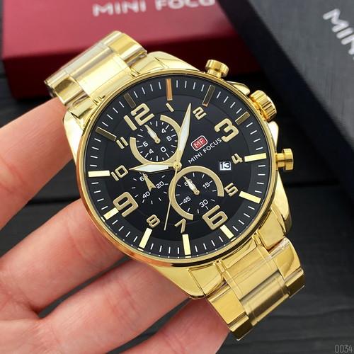 Часы наручные мужские Mini Focus MF0278G Gold-Black