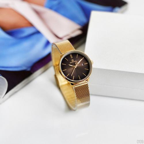 Часы наручные женские Naviforce NF3012L Gold-Black