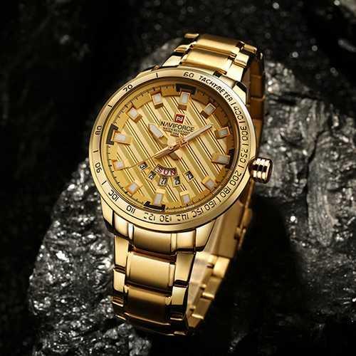 Часы наручные мужские Naviforce NF9090 All Gold