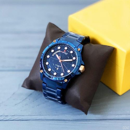 Сталеві чоловічі наручні годинники Naviforce NF9152 All Blue