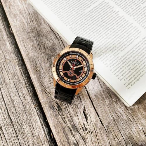 Наручні чоловічі кварцові годинники Naviforce NF9166 Black-Cuprum