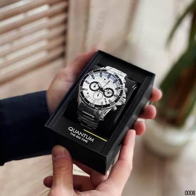 Часы Quantum ADG 680.330 Silver-Blue-Black