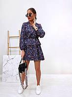 Модное женское платье приталенное в цветочный принт (Норма), фото 5