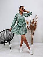 Модное женское платье приталенное в цветочный принт (Норма), фото 10