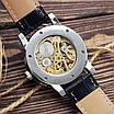 Наручний годинник Winner 8012C Diamonds Automatic Black-Silver унісекс, фото 2