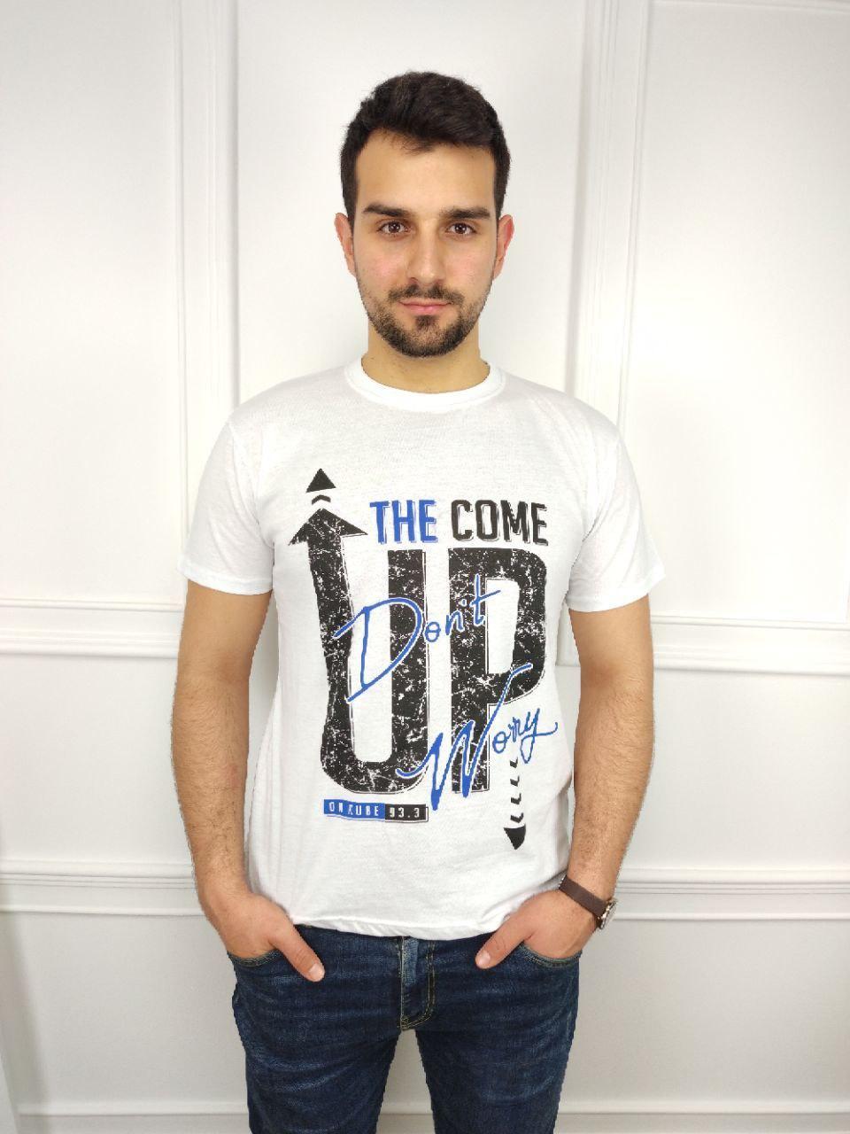 Чоловіча футболка батал, 52-58рр, UP, білий