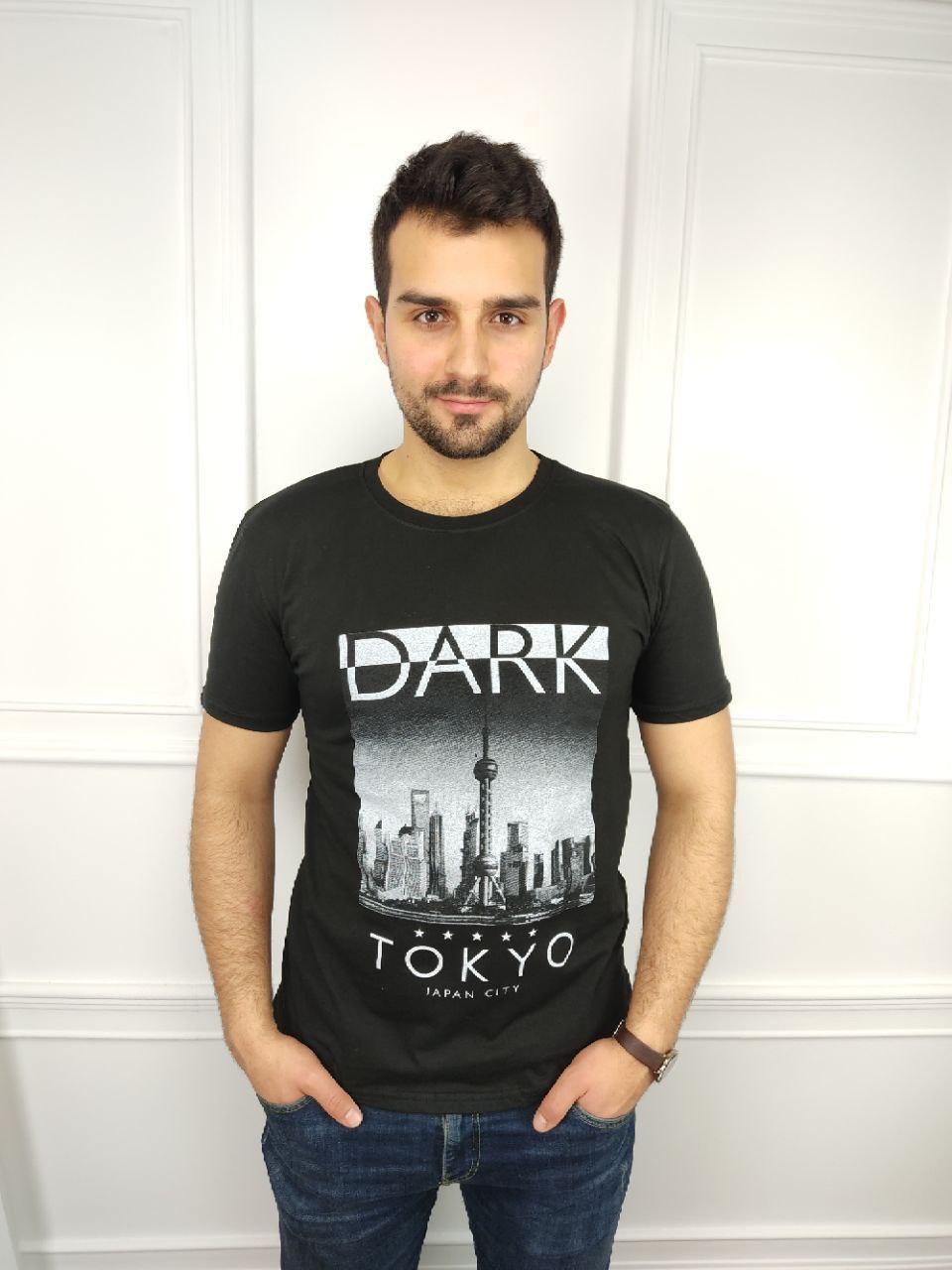 Чоловіча футболка батал, 52-58рр, DARK, чорний