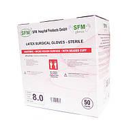 """Перчатки латексные хирургические, без пудры, стерильные, размер 6,0-9,0 """"SFM"""""""