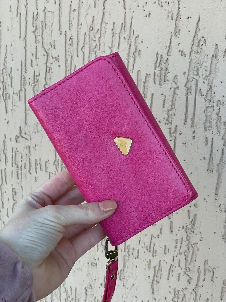 """Удобные кошелек """"Вайлет"""" розового цвета."""