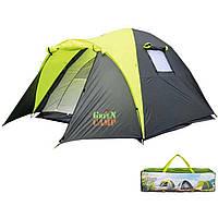 Палатка трехместная двухслойная Green Camp 1011-2 с двумя входами
