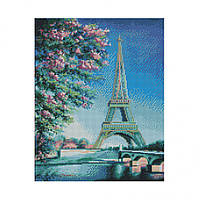 """Алмазная мозаика Strateg FA20153 """"Весна в Париже"""" 40х50 см"""